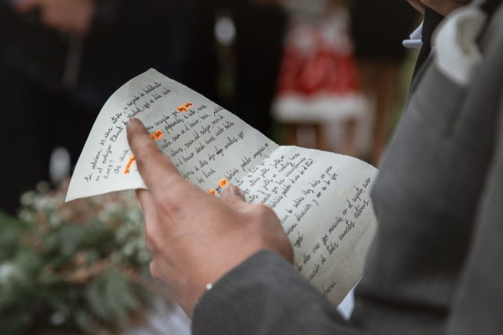 el discurso de la ceremonia