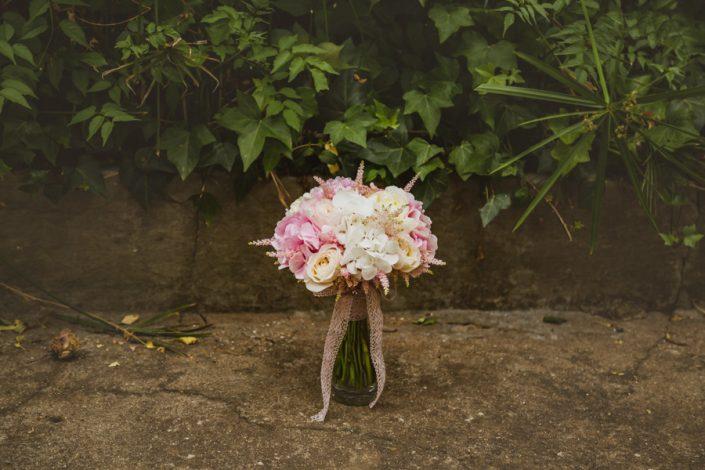 el ramo de la novia fotografía