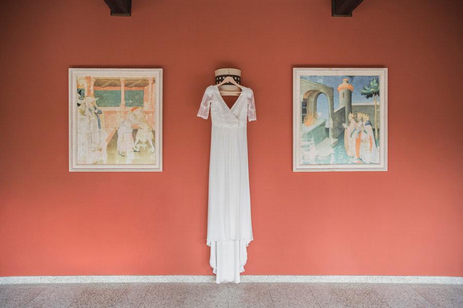 Rerportaje de boda: el vestido