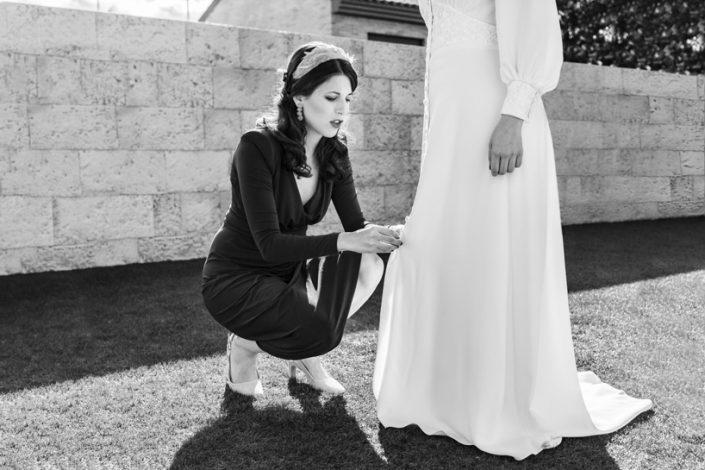 Reportaje profesional de boda blanco y negro